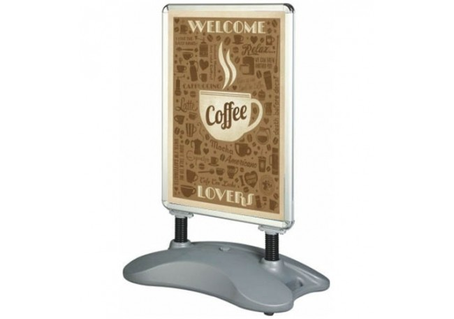 Waterbase double sided Pavement Sign