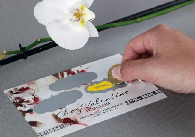 Scratchable ink Business Card