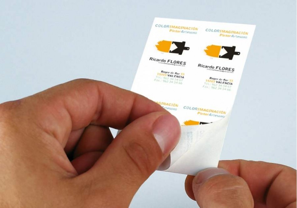 Adhesive Business Card