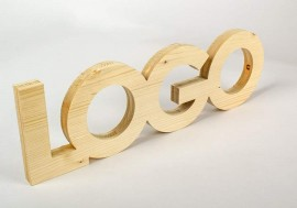 Wood corporeal letters
