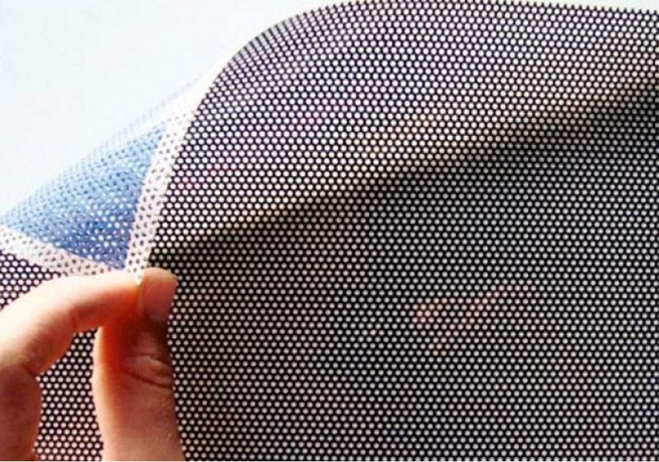 Microperforated vinyl